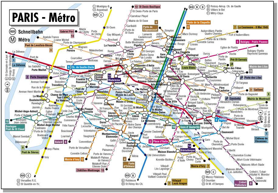 Navigating Paris – Metro Map Paris English